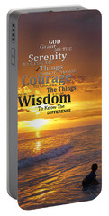 Serenity Prayer With Sunset By Sharon Cummings Portable Battery Charger