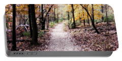 Portable Battery Charger featuring the photograph Serenity Walk In The Woods by Peggy Franz