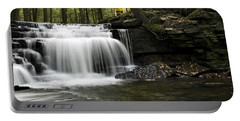 Portable Battery Charger featuring the photograph Serenity Waterfalls Landscape by Christina Rollo