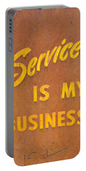 Service Is My Business Portable Battery Charger