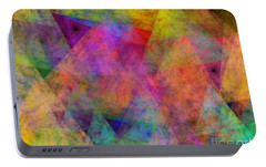 Portable Battery Charger featuring the digital art Set Sails On The Open Sea Abstract by Andee Design