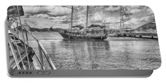 Portable Battery Charger featuring the photograph Setting Sail by Howard Salmon