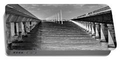 seven mile bridge BW Portable Battery Charger