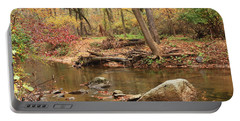 Portable Battery Charger featuring the photograph Shades Of Fall In Ridley Park by Patrice Zinck