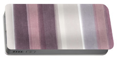 Shades Of Purple- Contemporary Abstract Painting Portable Battery Charger