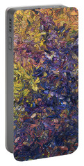 Portable Battery Charger featuring the painting Shadow Dance by James W Johnson