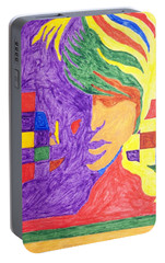 Portable Battery Charger featuring the painting Prince Gemini   by Stormm Bradshaw