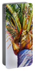 Shady Palm Tree Portable Battery Charger by Carlin Blahnik