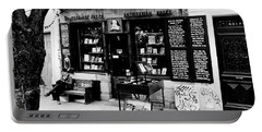 Shakespeare And Company Boookstore In Paris France Portable Battery Charger by Richard Rosenshein