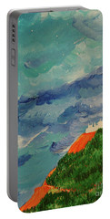 Portable Battery Charger featuring the painting Shangri-la by First Star Art