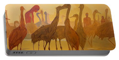 Portable Battery Charger featuring the painting Shapes Just Shapes Formas Nada Mas by Lazaro Hurtado
