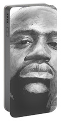 Portable Battery Charger featuring the drawing Shaq by Tamir Barkan