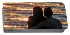 Portable Battery Charger featuring the photograph Sharing A Sunset Squared by Chris Anderson