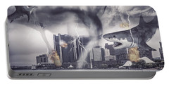 Portable Battery Charger featuring the photograph Sharknado Detroit by Nicholas  Grunas