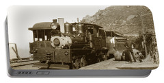 Portable Battery Charger featuring the photograph Shay No. 498 At The Summit Of Mt. Tamalpais Marin Co California Circa 1902 by California Views Mr Pat Hathaway Archives