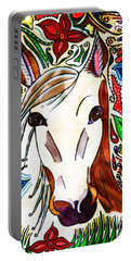 She Grazes Where Flowers Grow - Horse Portable Battery Charger