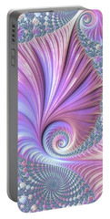 Portable Battery Charger featuring the digital art She Shell by Susan Maxwell Schmidt