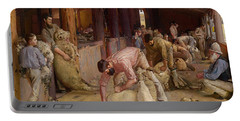 Shearing The Rams  Portable Battery Charger by Tom Roberts