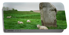 Sheep At Avebury Stones - Original Portable Battery Charger
