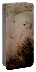 Portable Battery Charger featuring the painting Sheep Dog by Mike Breau