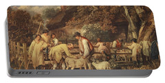 Sheep Shearing, C.1820 Portable Battery Charger
