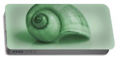 Shell. Light Green Portable Battery Charger