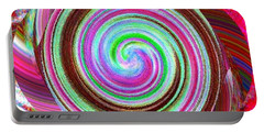 Portable Battery Charger featuring the digital art Shell Shocked by Catherine Lott