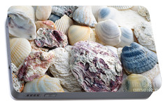 Portable Battery Charger featuring the photograph Shells From The Sea by Andee Design