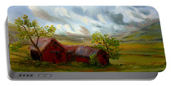 Portable Battery Charger featuring the painting Shelter From The Storm by Meaghan Troup