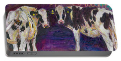 Sheltering Cows Portable Battery Charger by Helen White