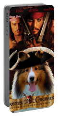 Sheltie - Shetland Sheepdog Art Canvas Print - Pirates Of The Caribbean The Curse Of The Black Pearl Portable Battery Charger