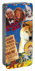 Shiba Inu Art Canvas Print - The Wizard Of Oz Movie Poster Portable Battery Charger