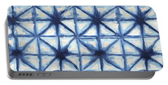 Shibori Iv Portable Battery Charger by Elizabeth Medley