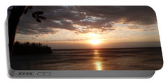 Portable Battery Charger featuring the photograph Shimmering Sunrise by James Peterson
