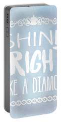 Shine Bright Blue Portable Battery Charger by Pati Photography
