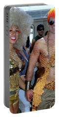 Portable Battery Charger featuring the photograph Shiny Happy People by Ed Weidman