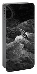 Ship In Stormy Sea Portable Battery Charger
