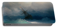 Ship On Stormy Seas Portable Battery Charger