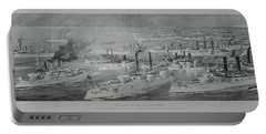 Portable Battery Charger featuring the digital art Ships by Cathy Anderson