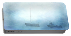 Ships In The Morning Haze  Portable Battery Charger
