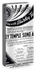 Shirley Temple Song Album Portable Battery Charger by Mel Thompson