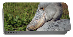Portable Battery Charger featuring the photograph Shoebill Balaeniceps Rex by Liz Leyden