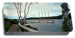 Shore Path In Bar Harbor Maine Portable Battery Charger by Judith Morris