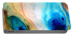 Shoreline - Abstract Art By Sharon Cummings Portable Battery Charger by Sharon Cummings