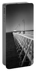 Shorncliffe Pier In Monochrome Portable Battery Charger