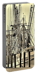 Shrimp Boat Portable Battery Charger by Debra Forand