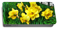 Shy Daffodils  Portable Battery Charger