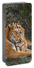 Siberian Tiger Mother And Cub Endangered Species Wildlife Rescue Portable Battery Charger