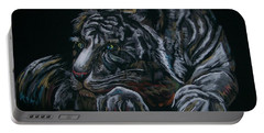 Siberian Tiger Portable Battery Charger by Peter Suhocke