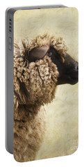 Side Face Of A Sheep Portable Battery Charger